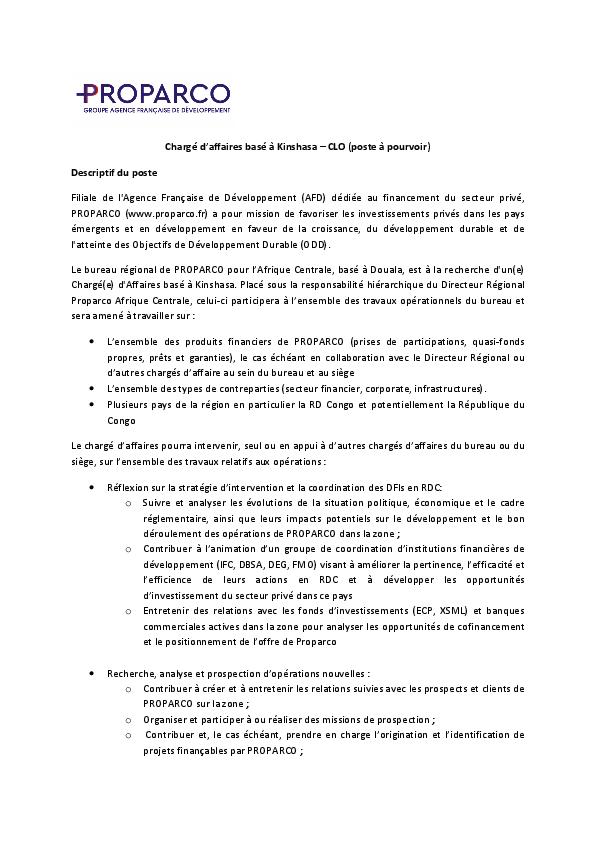 Travailler En Republique Democratique Du Congo Cci Franco Congolaise